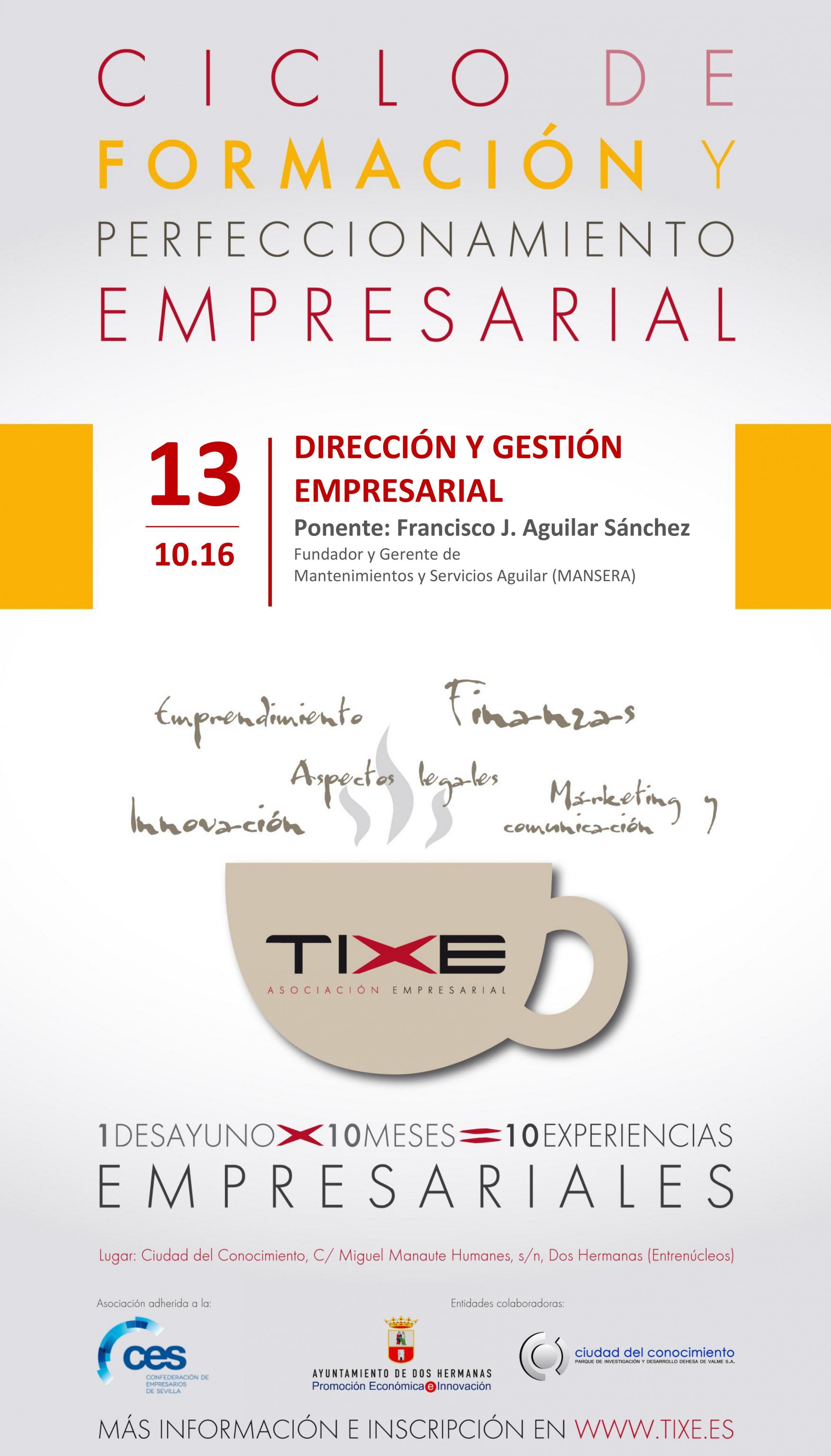 """II Edición """"Ciclo de Formación y Perfeccionamiento Empresarial"""". Desayuno de Octubre 2016"""